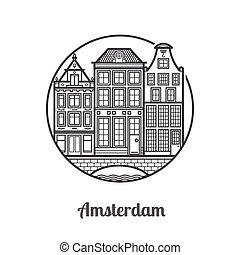 旅行, アムステルダム, アイコン