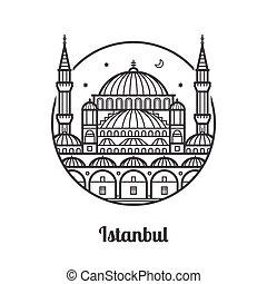 旅行, イスタンブール, アイコン