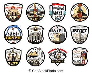 旅行, エジプト, 宗教, 文化, アイコン