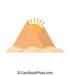 旅行, ギザ, エジプト人, 砂漠, ピラミッド