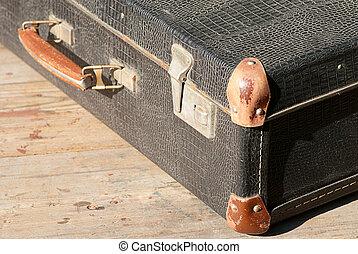 旅行, スーツケース, レトロ