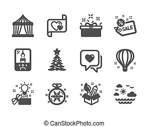 旅行, セット, 考え, ホリデー, アイコン, 海, ベクトル, クリスマス, 創造的, そのような物, ball.