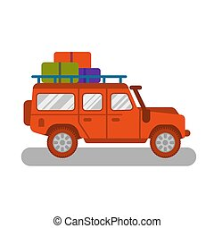 旅行, トラック, 自動車