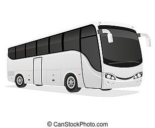 旅行 バス, イラスト, 大きい