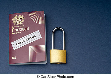 旅行, ポルトガル語, バックグラウンド。, 青, ナンキン錠, パスポート, ヨーロッパ