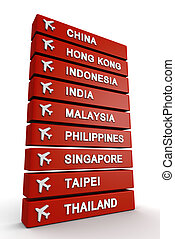 旅行, 亞洲, 概念