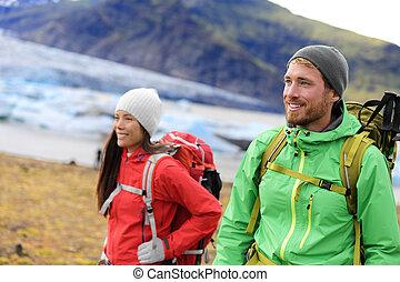 旅行, 冒険, ハイキング, 人々