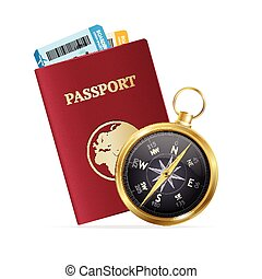 旅行 和 旅遊業, concept., 矢量
