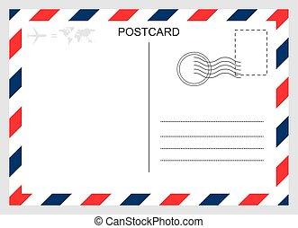 旅行, 圖表, 被隔离, 空白, 卡片, 設計, 背景。, 現代, 明信片