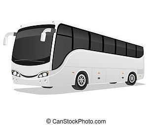 旅行, 大きい, イラスト, バス