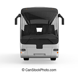 旅行, 大きい, バス, 白