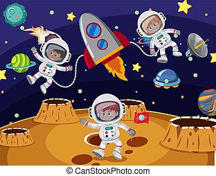 旅行, 宇宙飛行士, スペース