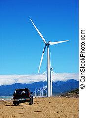 旅行, 对于, the, 风车
