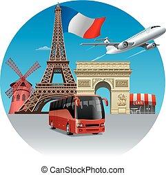 旅行, 旅行, フランス