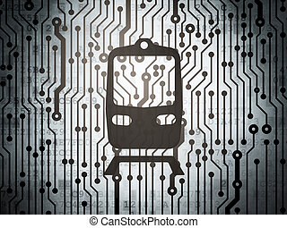 旅行, 板, concept:, 列車, 回路