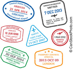 旅行, 簽証, 郵票