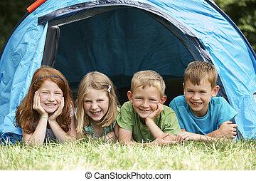 旅行, 群をなしなさい, キャンプ, 子供