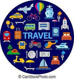 旅行, 輸送, アイコン