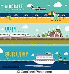 旅行, 運輸, 概念