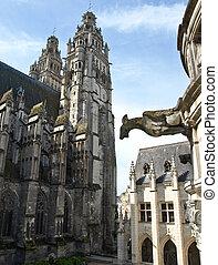 旅行, cathedral., france.