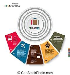 旅行, infographics, 運輸, 矢量, 插圖