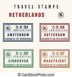 旅行, netherlands, スタンプ