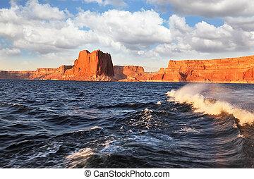 旅行, powell 湖, ボート, 絵のよう