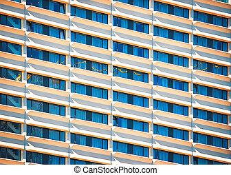 旅馆, 商业, 玻璃, 钢铁, 建筑物, 地区, 现代, 摩天楼