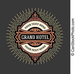 旅馆, 葡萄收获期, resta, 标识语, 样板