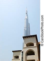 旅馆, 迪拜, 风格, burj, 传统, 摩天楼, 阿拉伯, 阿拉伯联合酋长国