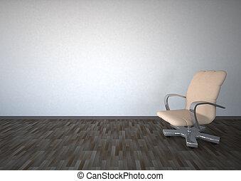 旋回装置 椅子, 空 部屋