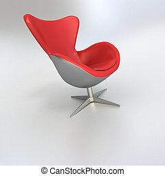 旋回装置 椅子, 赤