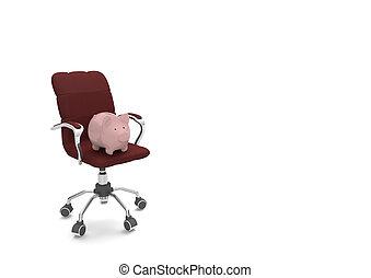 旋回装置 椅子, 銀行, 小豚