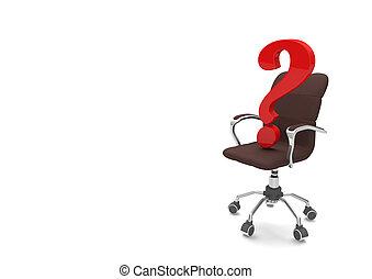 旋回装置, 質問, 椅子, 印