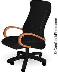 旋回装置, 黒, 椅子, ベクトル, イラスト
