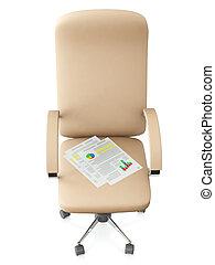 旋回装置, illustration:, 背景, 白, 椅子, 3d