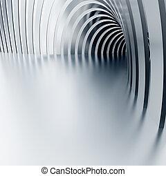 旋轉, ......的, the, 發光, 走廊, 由于, 專欄, 以及, 光