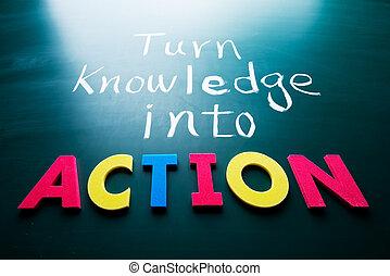 旋轉, 知識, 進, 行動