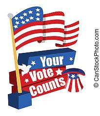 旗の旗, 選挙, アメリカ, 日