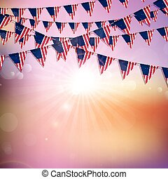 旗布, アメリカの旗, 背景