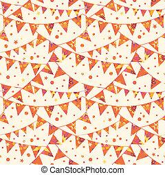 旗布, 完全, ベクトル, 冬, パターン, 暖かい, 背景, seamless, 三角, バックグラウンド。, 装飾...