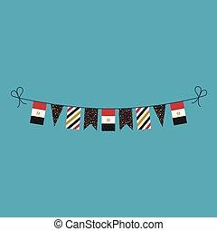 旗布, 平ら, エジプト, 国民, 旗, 装飾, デザイン, 休日, 日