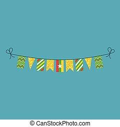 旗布, 平ら, ミャンマー, 国民, 旗, 装飾, デザイン, 休日, 日