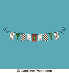 旗布, 平ら, モルディブ, 国民, 旗, 装飾, デザイン, 休日, 日