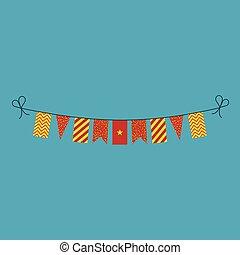 旗布, 平ら, 国民, ベトナム, 旗, 装飾, デザイン, 休日, 日