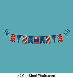 旗布, 平ら, 国民, mongolia, 旗, 装飾, デザイン, 休日, 日
