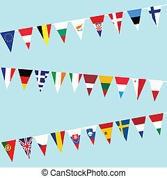 旗布, 組合, 旗, ヨーロッパ