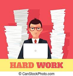 旗幟, 壓力, work., 矢量, 套間