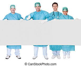 旗幟, 外科醫生, 組, 提出, 空