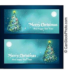 旗幟, 樹, 聖誕節